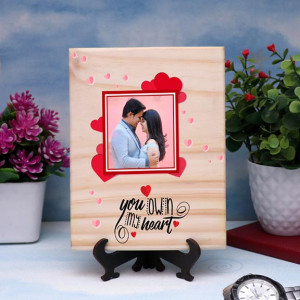 You Own My Heart Personalized Wooden Plaque