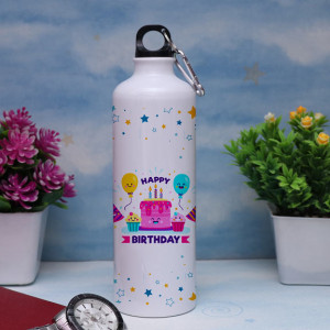 Personalized Happy Birthday Sipper Bottle